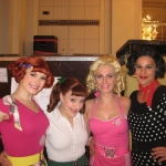 Grease  Ilka Wolf(Frenchy), Claudie Reinhard(Jan), Karen Selig(Marty), Selvi Rothe(Rizzo)
